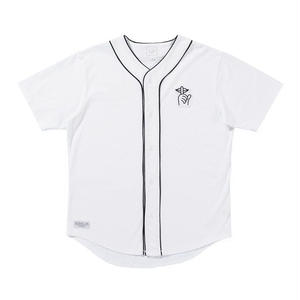 THE QUIET LIFE SHHH BASEBALL JERSEY WHITE