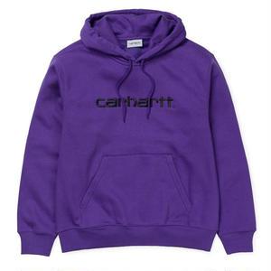 CARHARTT WIP  HOODED CARHARTTSWEATSHIRT FROSTED VIOLA / BLACK