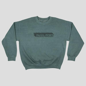 PASS~PORT  PIGMENT DYED SWEATER ALPINE GREEN