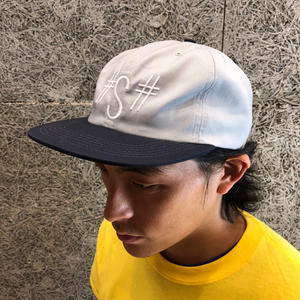 SCUMCO & SONS S 6-PANEL SNAPBACK GREY/NAVY