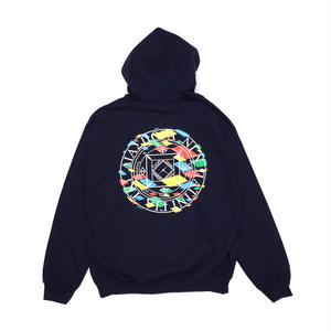 Diaspora Skateboards LJJ MC HOODED SWEAT NAVY