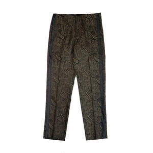 MAIDEN NOIR WOOL PAISLEY TROUSER  BROWN
