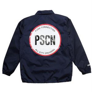 PSCN BACK CIRCLE LOGO COACH JACKET NAVY