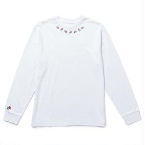 THE QUIET LIFE ROSARY LONG SLEEVE TEE WHITE
