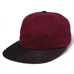 THE QUIET LIFE   STAGGER POLO HAT BURGUNDY/BLACK