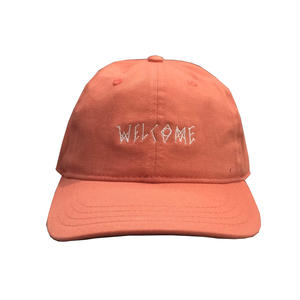 WELCOME SKATEBOARDS 6PANEL CAP PINK