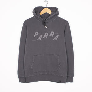 BY PARRA RACING HOODED SWEATER OVERDYED BLACK