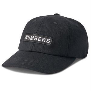 Numbers Edition WORDMARK HAT-WOOL 6-PANEL BLACK