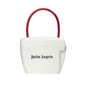 PALM  ANGELS  PADLOCK BAG WHITE