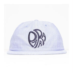 BY PARRA  6 PANEL HAT TRIP  BLUE OXFORD