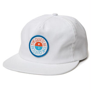 THE QUIET LIFE SOLAR RELAXED SNAPBACK HAT WHITE