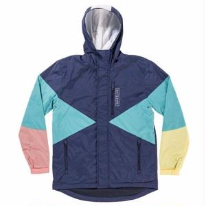 THE QUIET LIFE PACIFIC WINDBREAKER  NAVY/CORAL/YELLOW