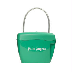 PALM  ANGELS  PADLOCK BAG GREEN