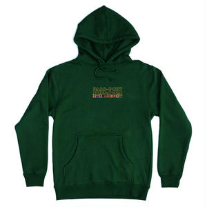 "PASS~PORT ""INTERNATIONAL EMBROIDERY"" HOODIE FOREST GREEN"