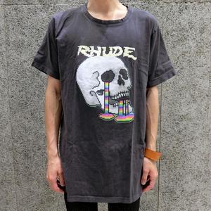 RHUDE   PSYCHOSKULL T-SHIRT BLACK