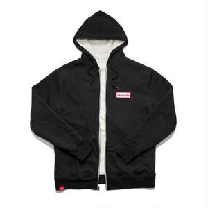 CHOCOLATE SKATEBOARDS UNION SHERPA ZIP HOODIE BLACK