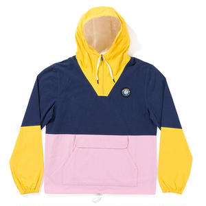 THE QUIET LIFE SOLAR COTTON PULLOVER YELLOW/NAVY/PINK
