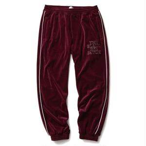 BLACK EYE PATCH VELOUR PANTS