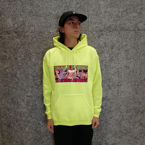 SNAKE PORNO ADDON HOODIE SAFETY YELLOW (MORTAR EXCLUSIVE)