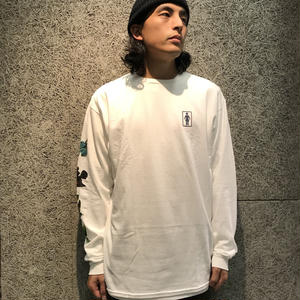 GIRL SKATEBOARDS SANCTUARY L/S TEE WHITE