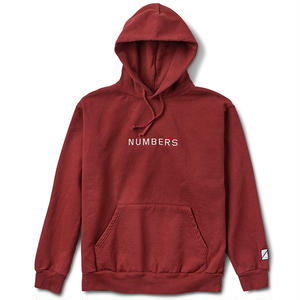 Numbers Edition EMBROIDERED WORDMARK FLEECE PULLOVER BURNT ORANGE
