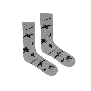 BELIEF PREHISTORIC SOCKS HEATHER GREY