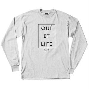 THE QUIET LIFE PARIS LONG SLEEVE T  ASH HEATHER