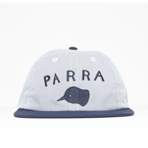 BY PARRA  6 PANEL HAT BEAK KNOB   BLUE OXFORD