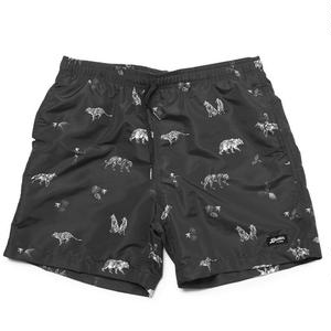 RAISED BY WOLVES × BATHER SWIM TRUNKS BLACK
