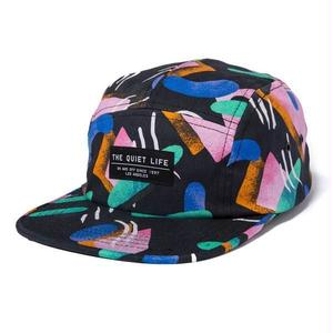 THE QUIET LIFE GIBBLER 5 PANEL CAMPER HAT BLACK