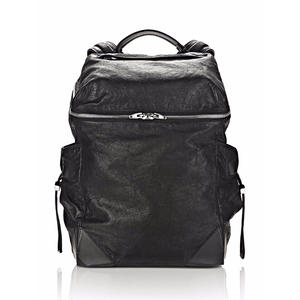 ALEXANDER WANG WALLIE BACKPACK IN WAXY BLACK