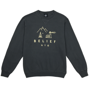 BELIEF COUNTRY CREWNECK COAL