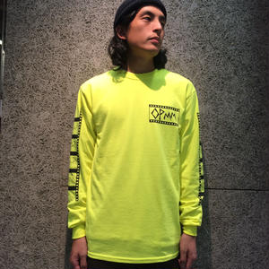 OPMM FILM LONGSLEEVE TSHIRTS SAFETY YELLOW