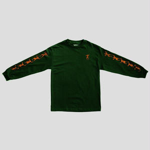 "PASS~PORT ""MORPHED"" L/S TEE FOREST GREEN"