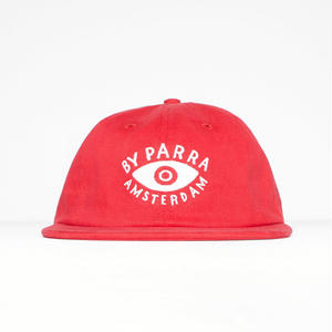 BY PARRA EYE 6PANEL HAT RED
