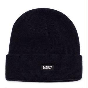 MN07 STOCK EMBROIDERY BEANIE NAVY
