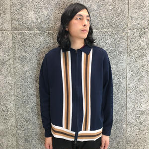 MAIDEN NOIR  L/S ZIP  KNIT  POLO