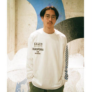 Diaspora Skateboards for MORTAR LONGSLEEVE TEE WHITE