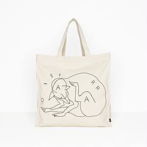 BY PARRA  TOTE BAG SCRATCH DOG  WHITE