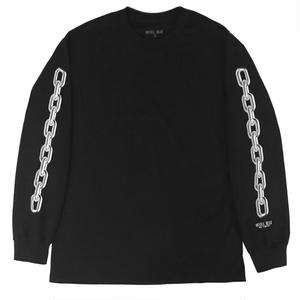 HOTEL BLUE CHAIN L/S TEE BLACK