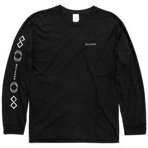 ÖCTAGON LONG SLEEVE T-SHIRT BLACK