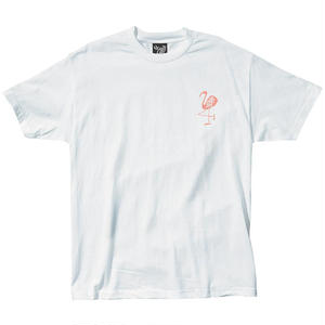 THE QUIET LIFE FLAMINGO TEE WHITE