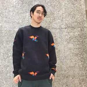 BY PARRA PULLOVER BIRDS KNITTED BLACK