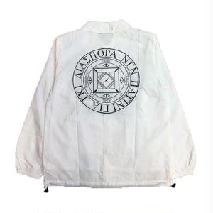 Diaspora Skateboards LONG LETTER COACH JACKET WHITE