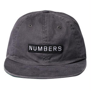 NUMBERS EDITION  LOGOTYPE  TWILL 6-PANEL HAT CHARCOAL