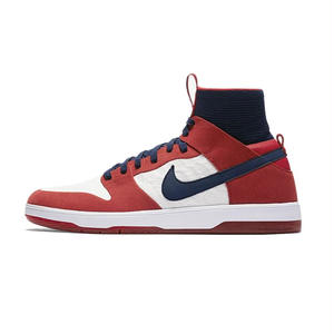 NIKE SB ZOOM DUNK HIGH ELITE WHITE/UNIVERSITY RED-COLLEGE NAVY