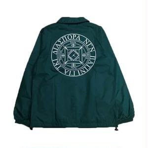 Diaspora Skateboards LONG LETTER COACH JACKET GREEN