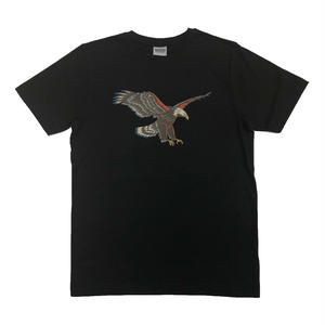 SSS WORLD CORP PRAY TEE EAGLE BLACK