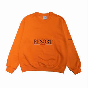 RESORT CORPS EQUIPMENT CREW NECK SWEATER ORANGE