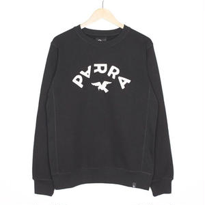 BY PARRA CREWNECK SWEATER ARCH & BIRD BLACK